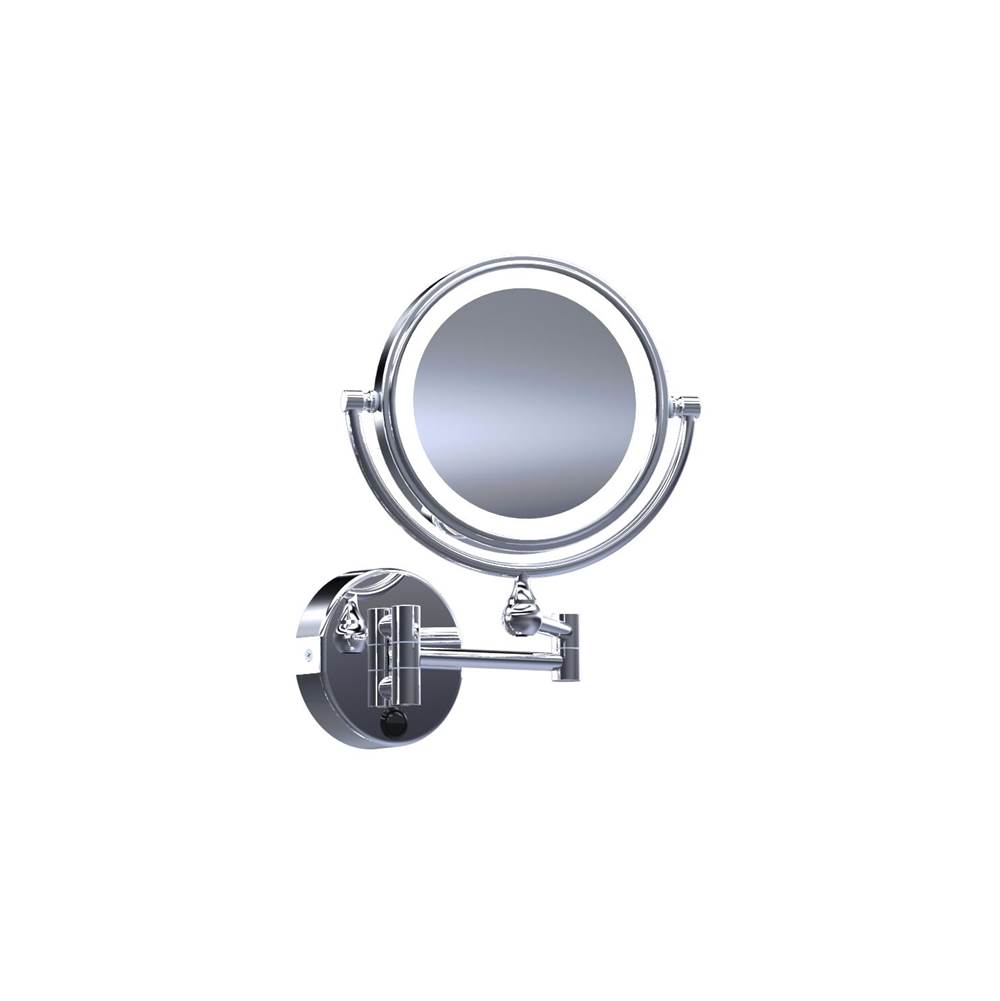 Baci Mirrors Baci Basic Round Double Arm Wall Mirror - Reversible - LED