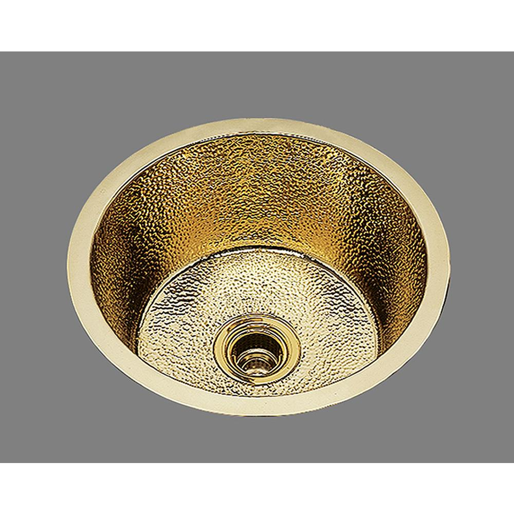 Bates And Bates Large Round Prep/Bar Sink. Plain Pattern, Undermount & Drop In