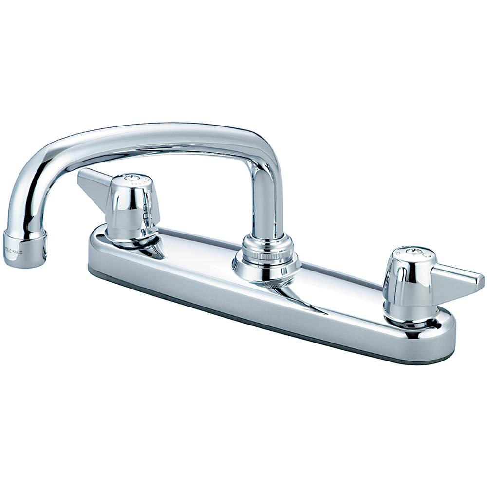 Central Brass Kitchen-Shell Type Topmount 8'' Two Canopy Hdls 8'' Tube Spt-Pc