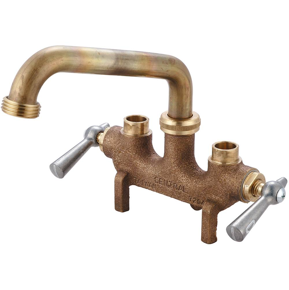 Central Brass Laundry-3-1/2'' Cntrs Two Lvr Hdls 6'' Tube Spt 1/2'' Direct Sweat Straddle Legs-Rough