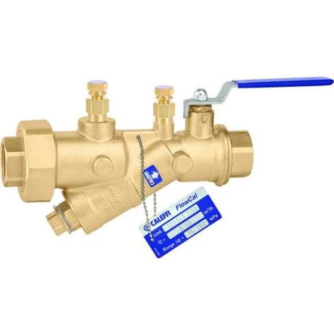 Caleffi FlowCal Pressure Independent Balancing Valve w/ shut-off 1/2'' SWT w/PT ports