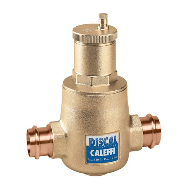 Caleffi DISCAL Air Separator 1 1/4'''' Union Press w/ Expansion Tank Check