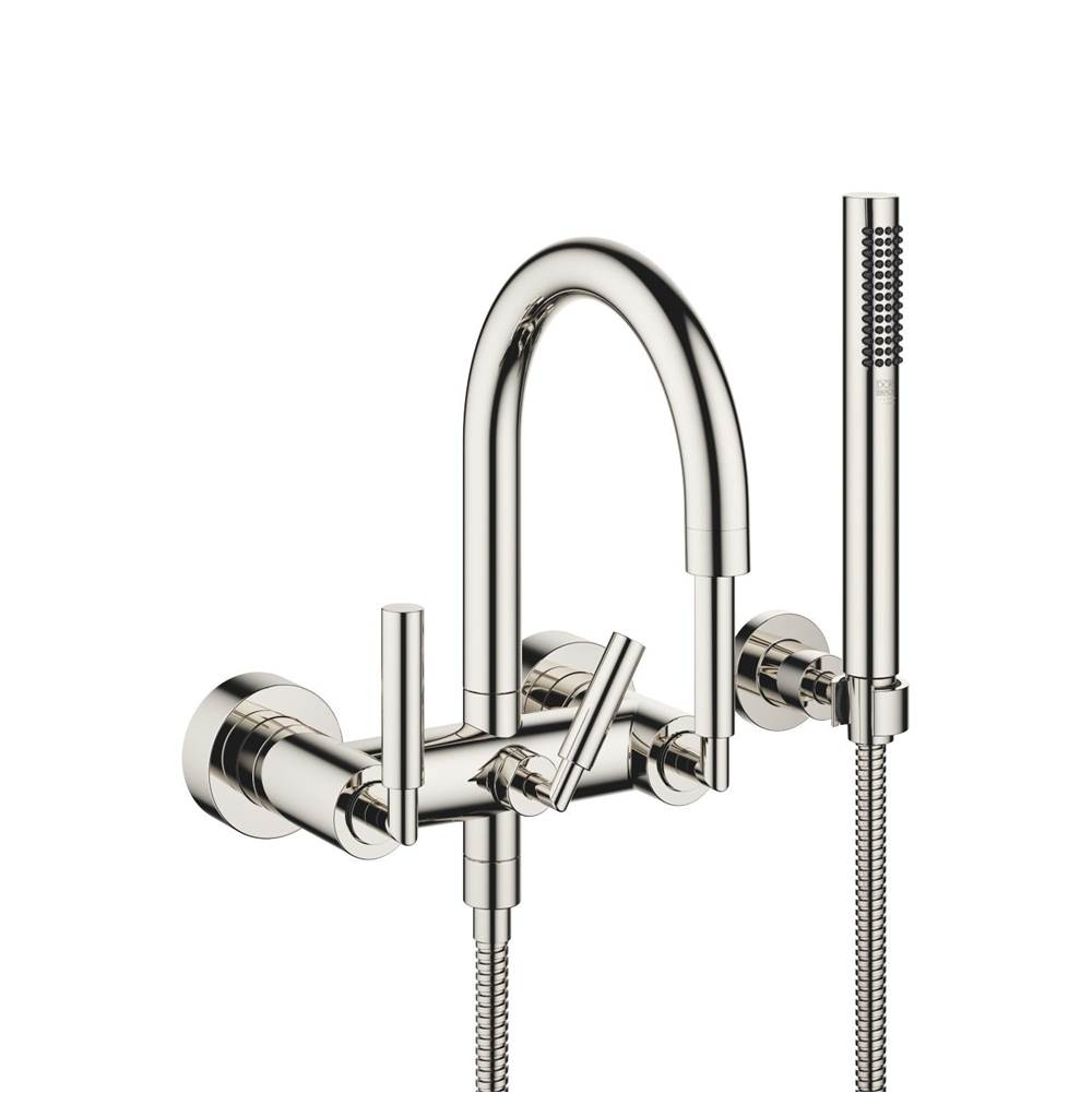 Dornbracht Tub mixer for wall-mounted installation with hand shower set