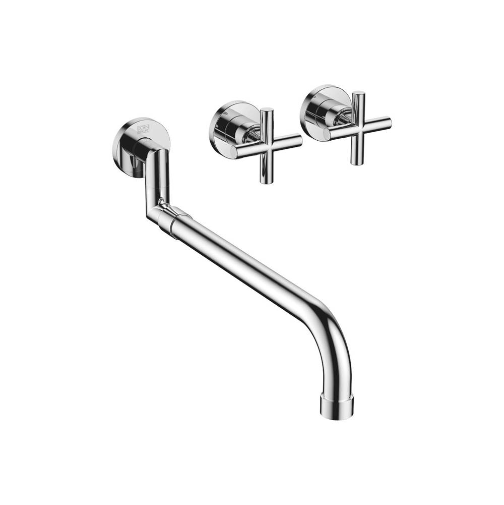 Dornbracht Wall-mounted three-hole kitchen mixer with pull-out spout