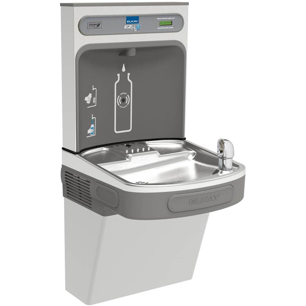 Elkay Elkay EZH2O Bottle Filling Station with Single ADA Cooler, Non-Filtered 8 GPH Stainless