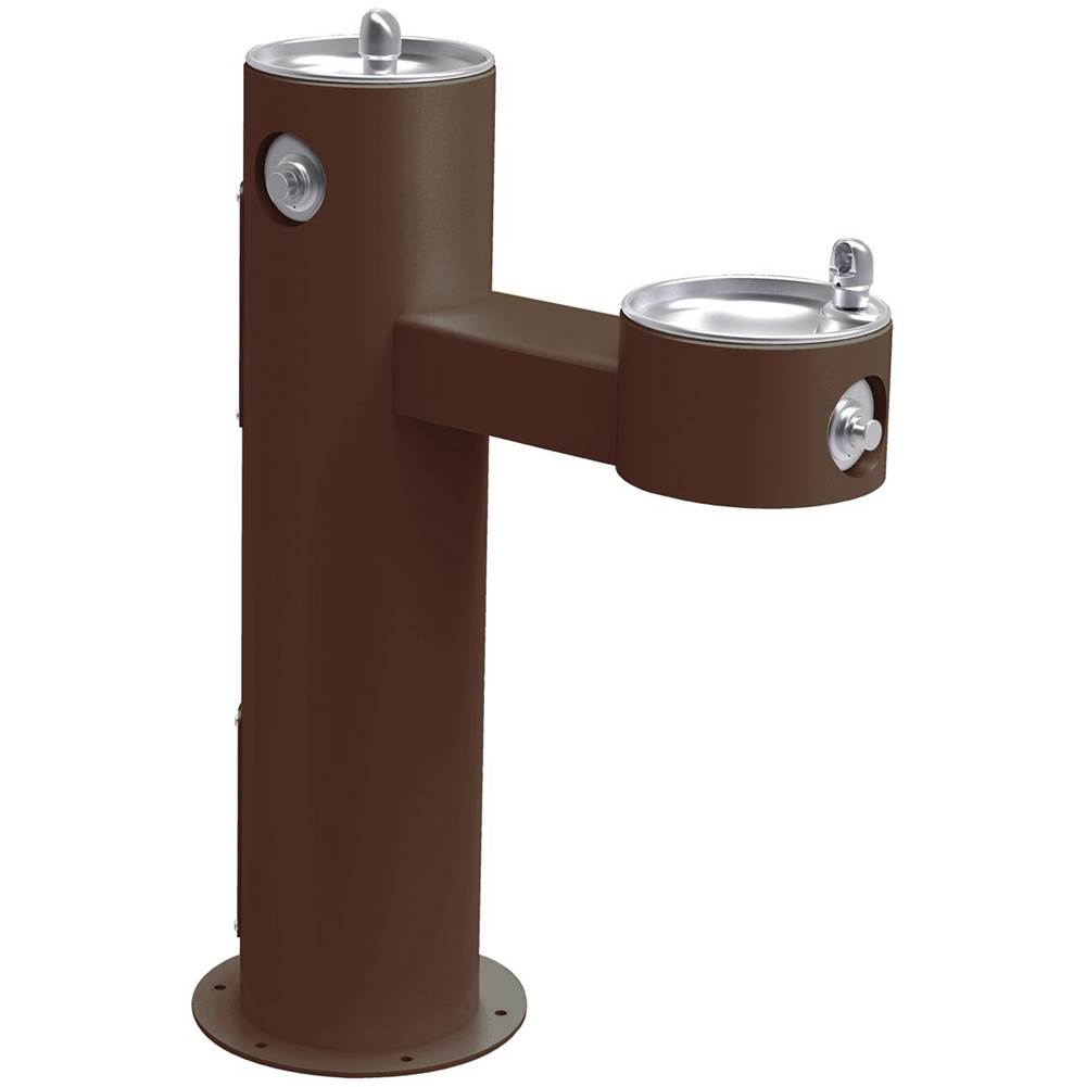 Elkay Elkay Outdoor Fountain Bi-Level Pedestal Non-Filtered, Non-Refrigerated Freeze Resistant Brown