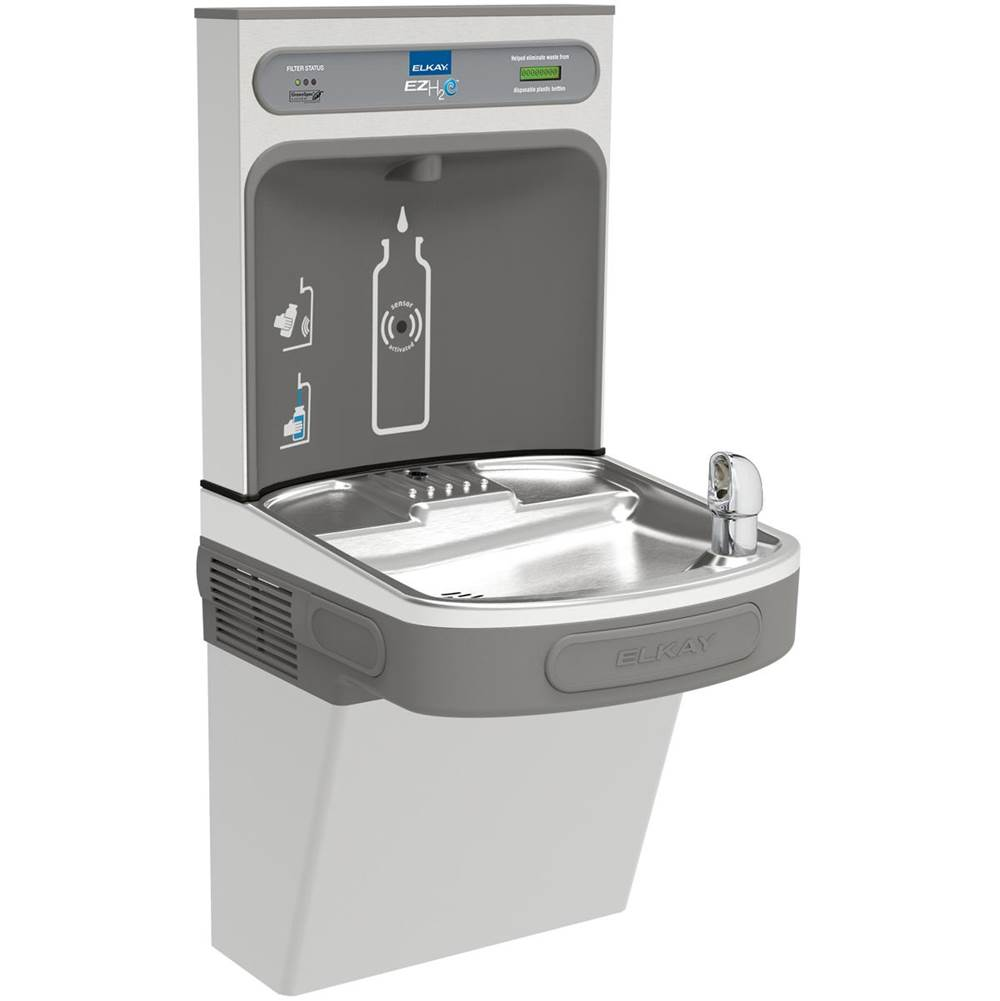 Elkay Elkay EZH2O Bottle Filling Station with Single ADA Cooler, Filtered 8 GPH Stainless