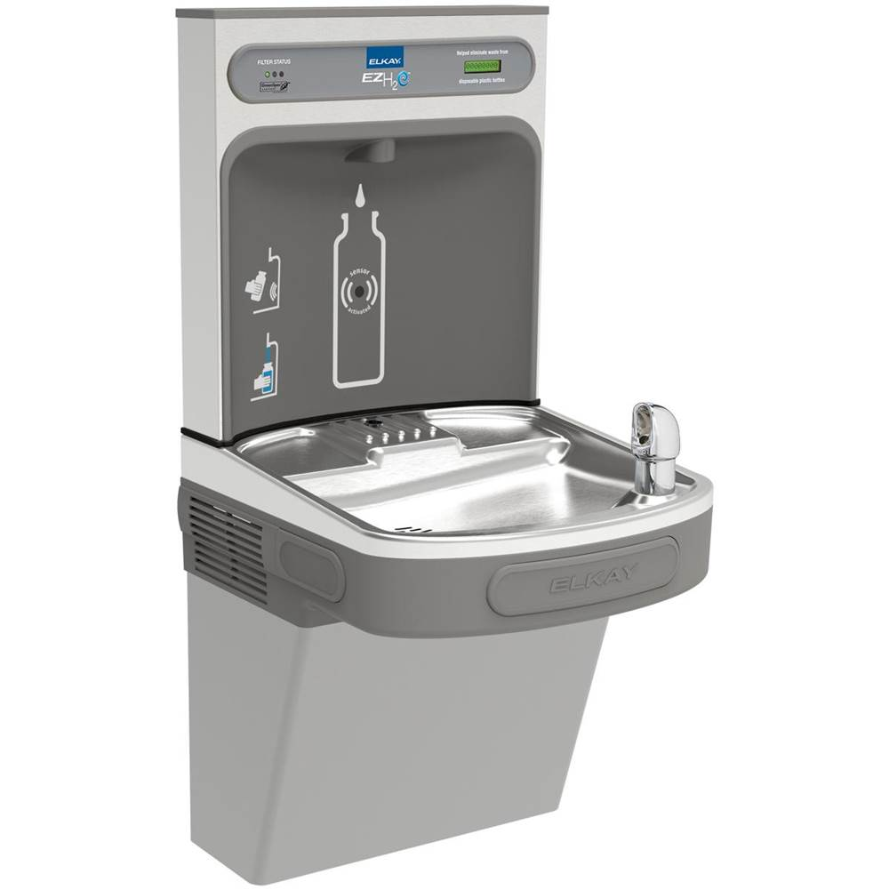 Elkay Elkay EZH2O Bottle Filling Station with Single ADA Cooler, Filtered Non-Refrigerated Light Gray