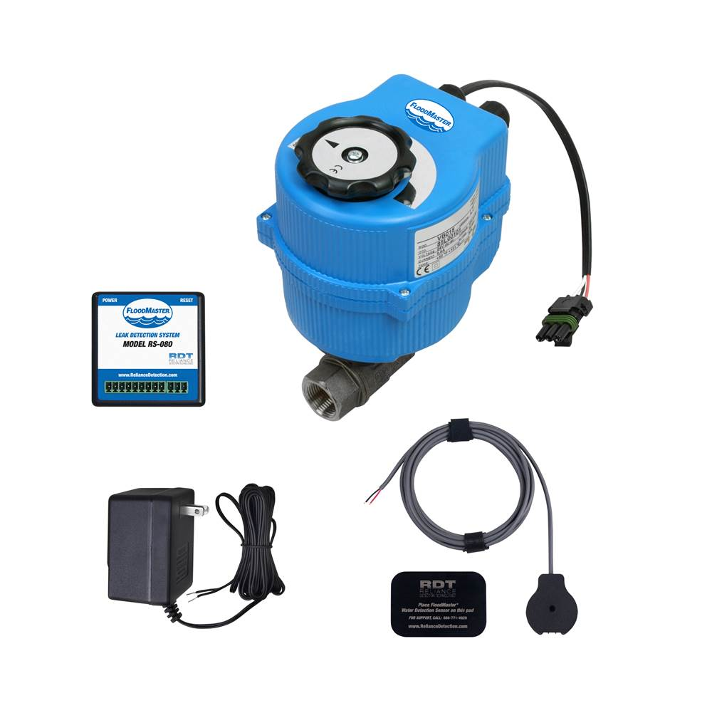 FloodMaster By RDT Plumbing Leak Detection & Automatic 1-1/2'' Water Main Supply Line Shut-Off System