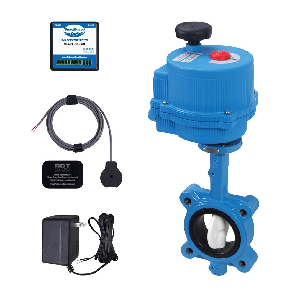 FloodMaster By RDT Plumbing Leak Detection & Automatic 4'' Water Main Supply Line Shut-Off System