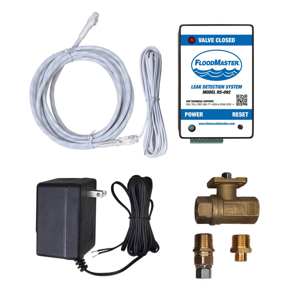 FloodMaster By RDT Hose-Fed Appliance Leak Detection & Automatic Water Shut-Off System – Plug-In – for Dishwashers, Ice Makers, Beverage Dispensers