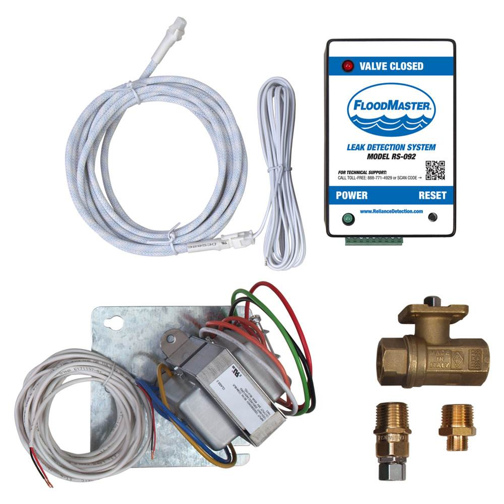 FloodMaster By RDT Hose-Fed Appliance Leak Detection & Automatic Water Shut-Off System – Hard Wired – for Dishwashers, Ice Makers, Beverage Dispensers