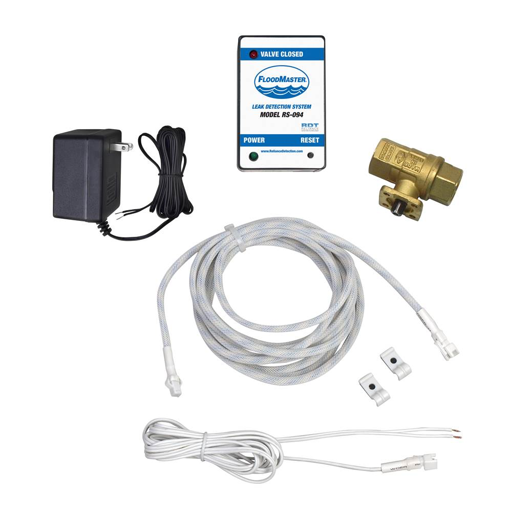 FloodMaster By RDT Water Heater/Tank Leak Detection & Automatic Water Shut-Off System for Low-Profile Tanks