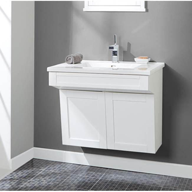 Fairmont Designs Shaker Americana 30'' Wall Mount Vanity In Polar White