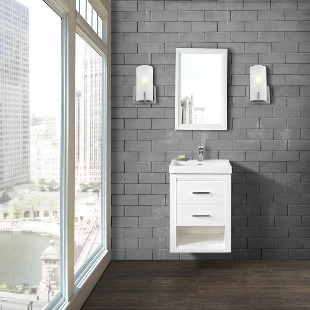 Fairmont Designs Studio One 21x18'' Wall Mount Vanity In Glossy White