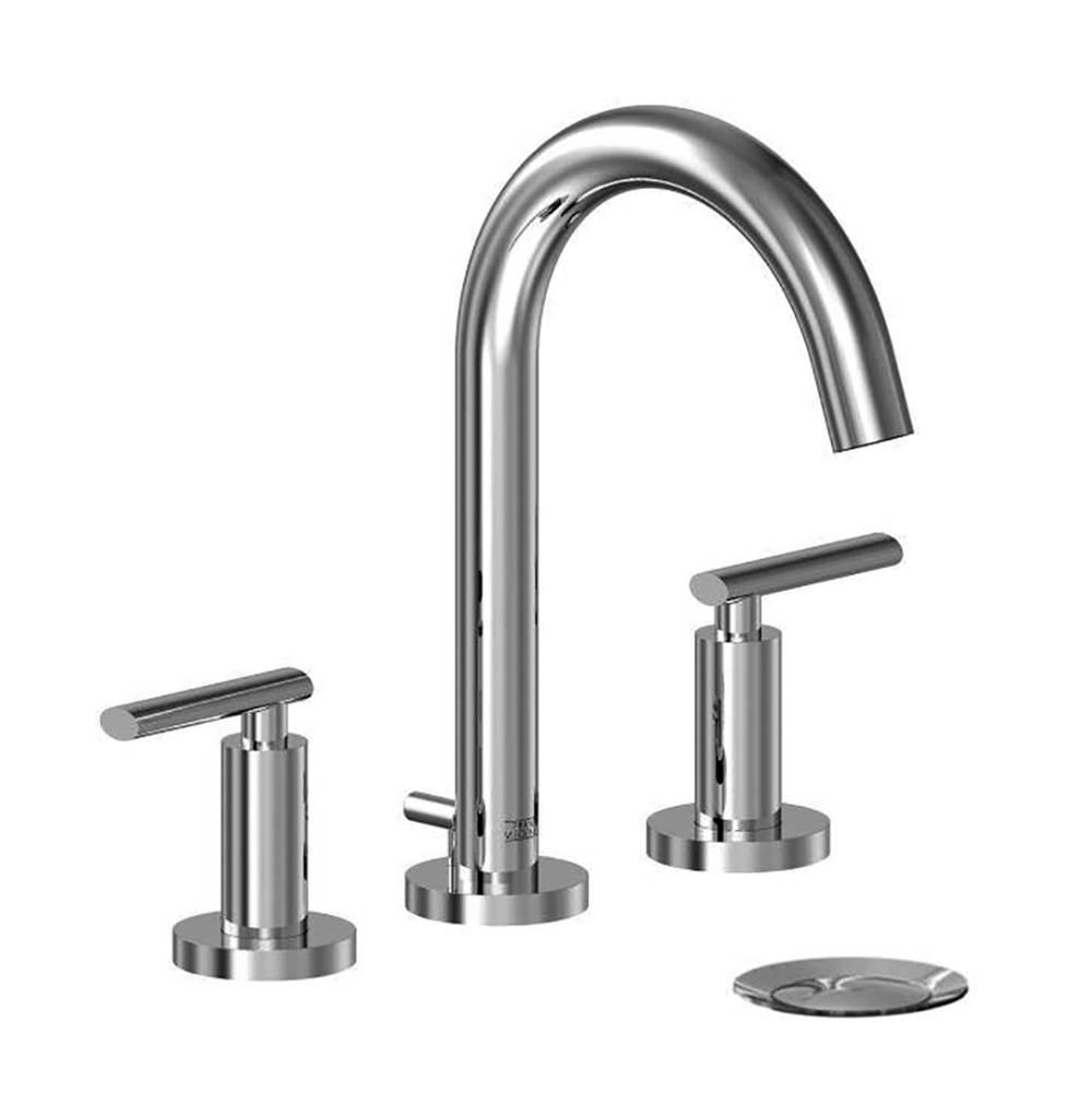 Franz Viegener Widespread lavatory faucet with pop-up drain assembly