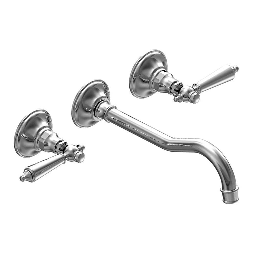 Franz Viegener Wall-mounted lavatory faucet, less drain assembly, trim only