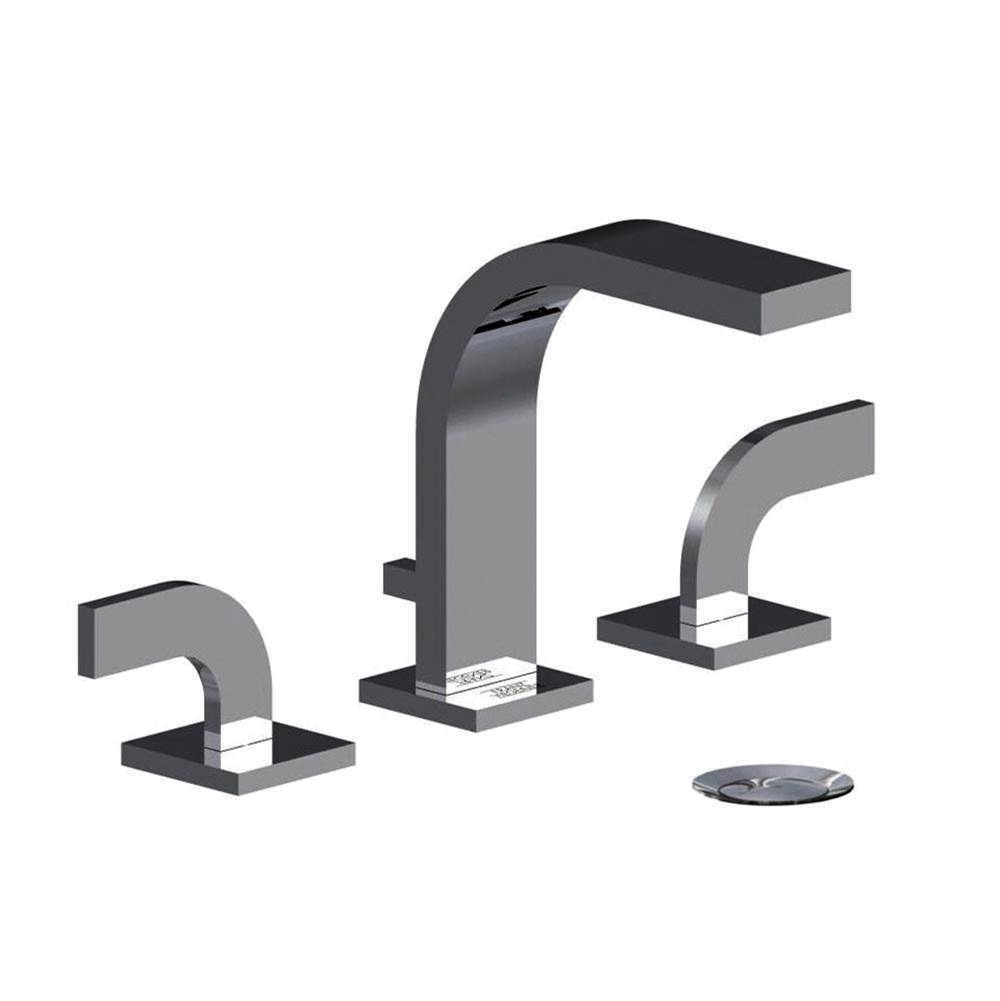 Franz Viegener Widespread lavatory faucet with push down pop-up drain assembly