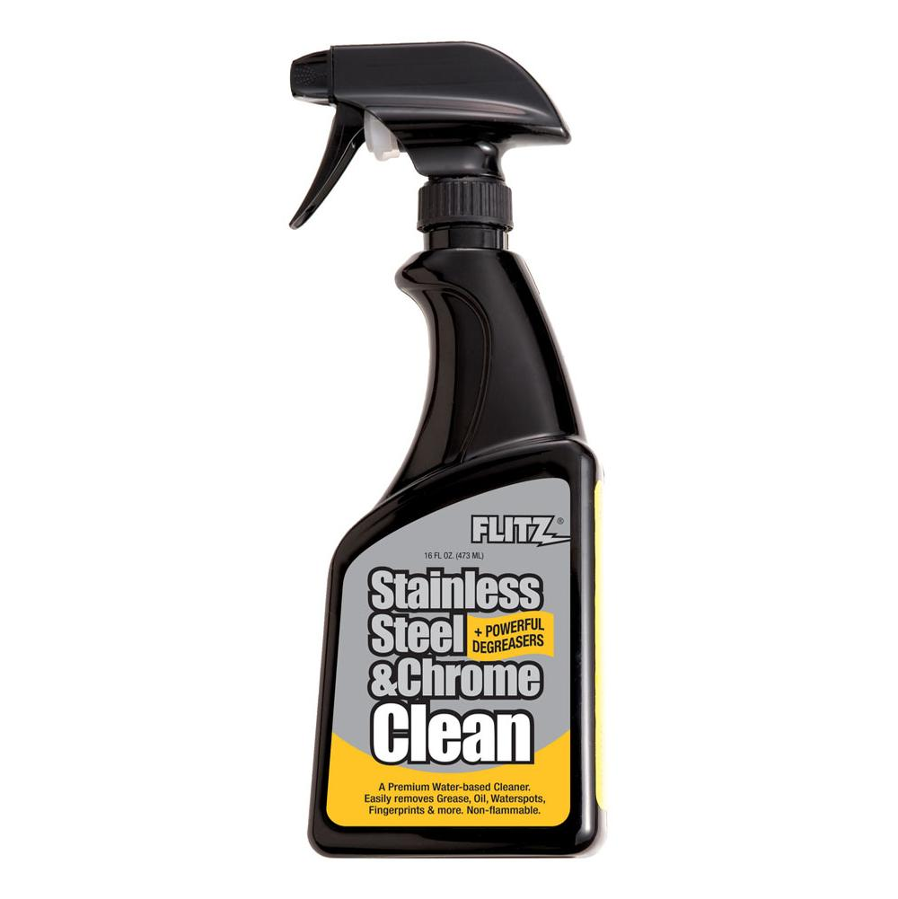 Flitz Stainless Steel And Chrome Cleaner With Degreaser