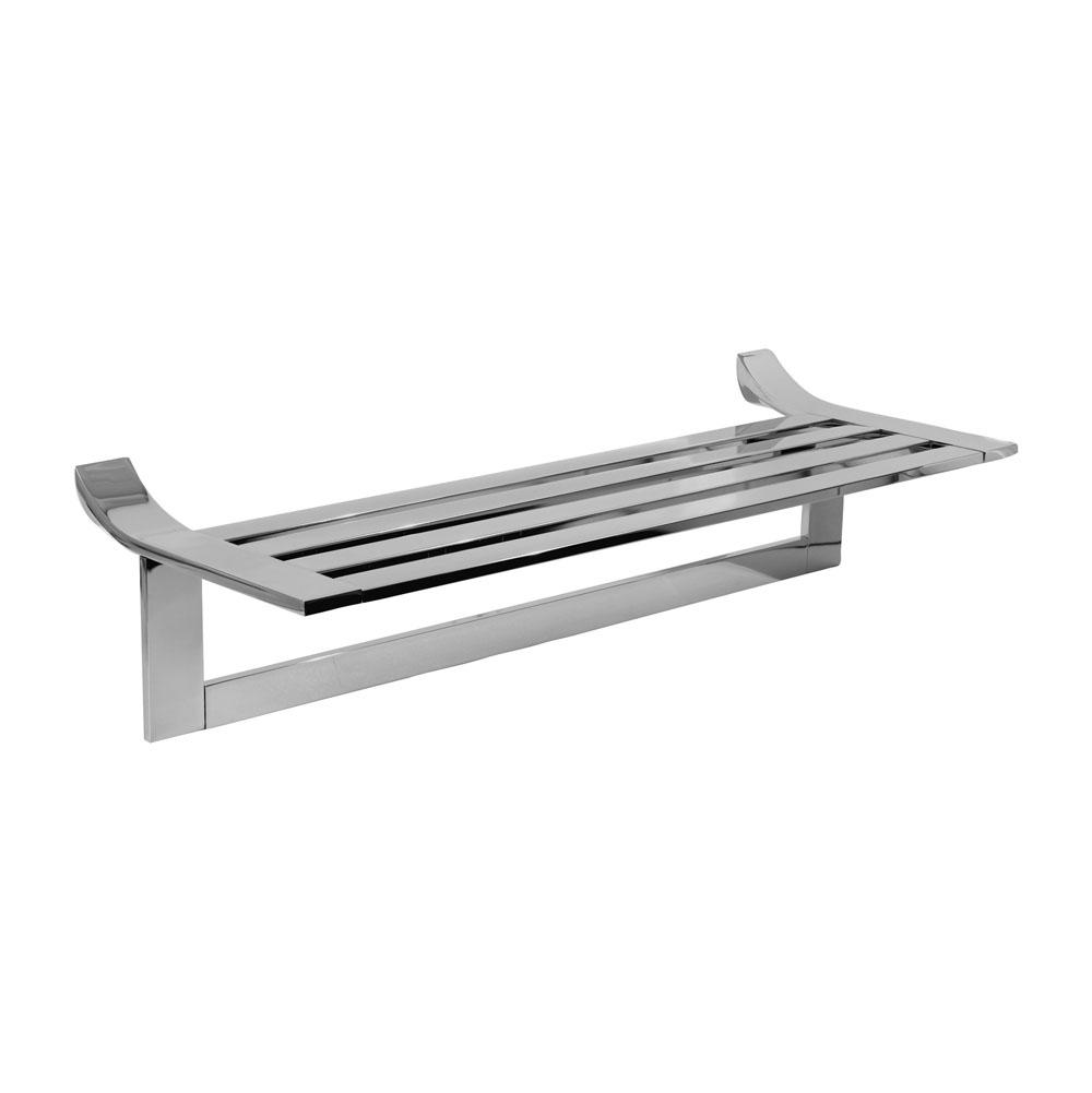 Ginger 24'' Hotel Shelf with Towel Bar