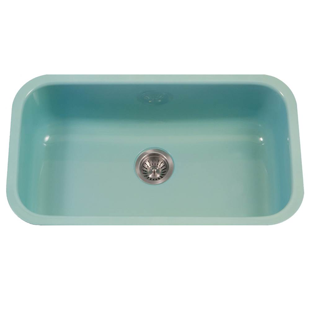Hamat Enamel Steel Undermount Large Single Bowl Kitchen Sink, Mint