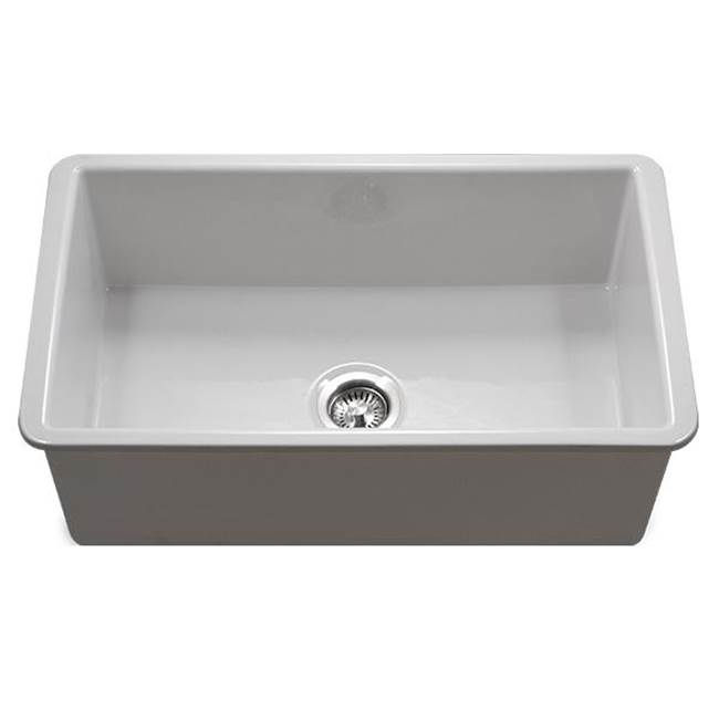 Hamat Undermount Fireclay Single Wowl Kitchen Sink, White