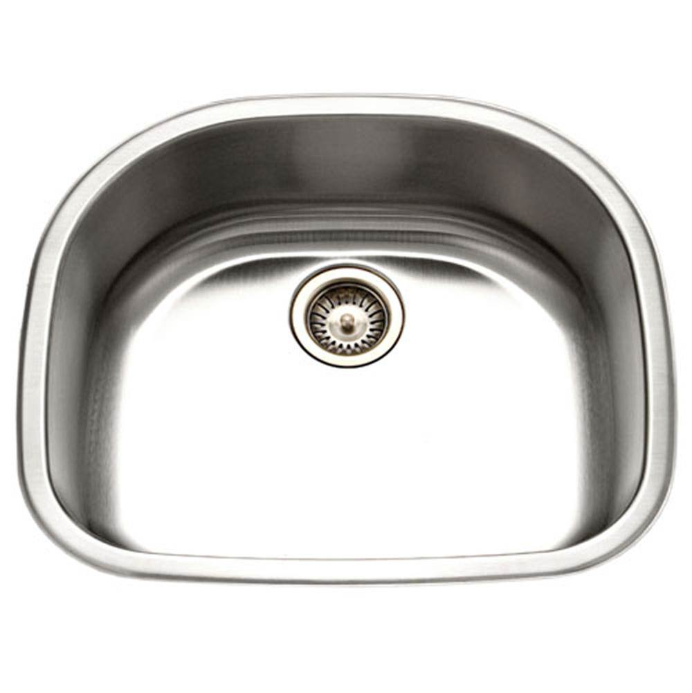 Hamat Undermount Stainless Steel Single D Bowl Kitchen Sink