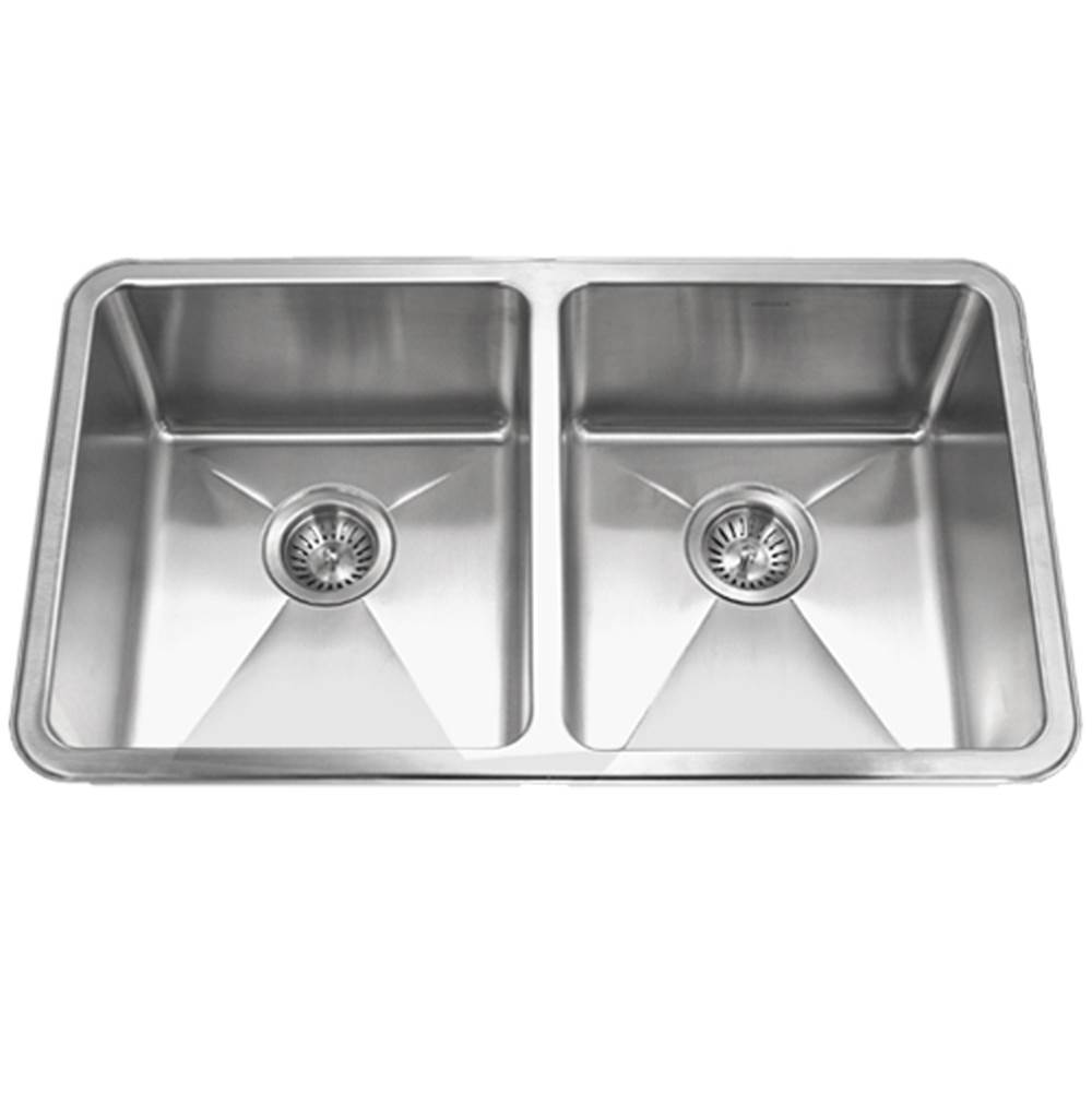 Hamat 15MM Radius Undermount Stainless Steel 50/50 Double Bowl Kitchen Sink