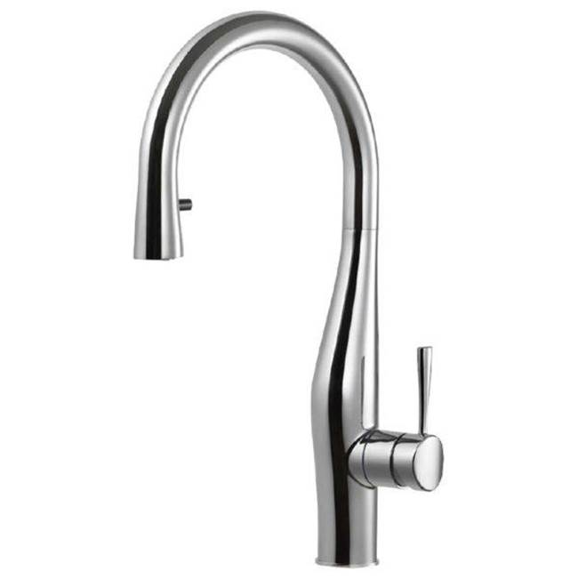 Hamat Dual Function Hidden Pull Down Kitchen Faucet in Polished Nickel