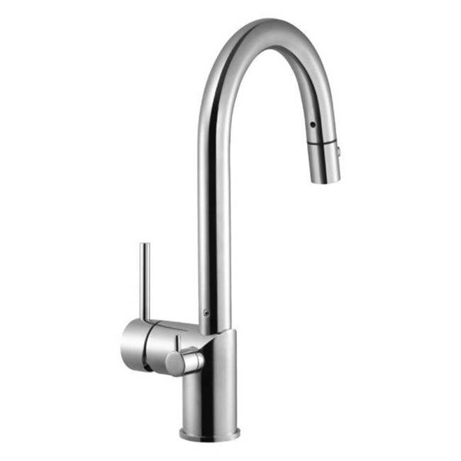 Hamat Dual Function Pull Down with Shut Off Valve for Hot Water in Rose Gold