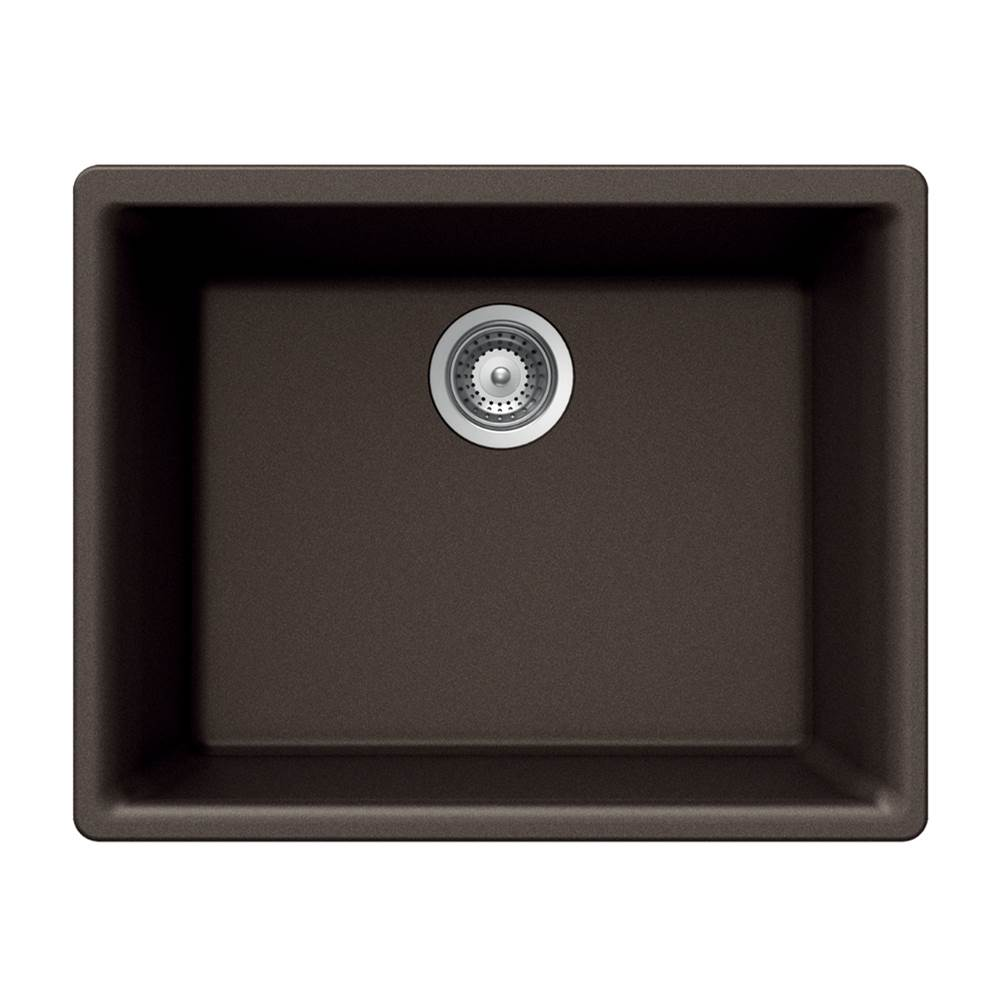 Hamat Granite Undermount Single Bowl Kitchen Sink, Mocha