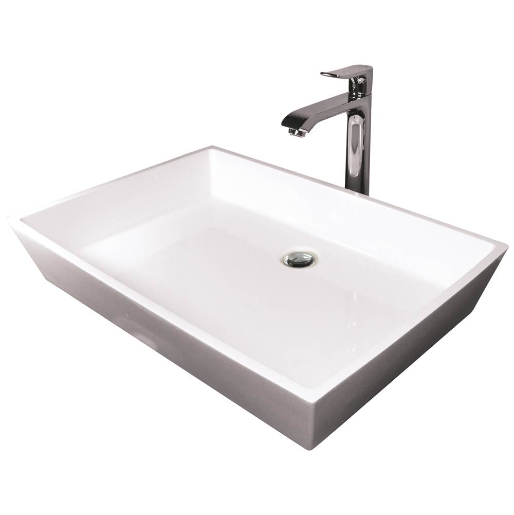 Hydro Systems BLOCK 25X18 SOLID SURFACE SINK - ALMOND