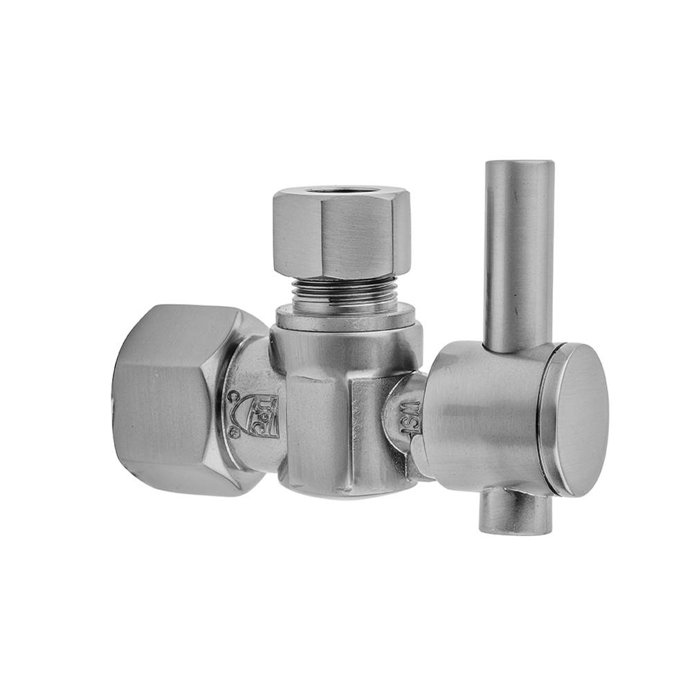 Jaclo 620-6-JG Straight Quarter-Turn Supply Valve with 1//2 IPS x 1//2 O.D and Contemporary Square Lever Handle Jewelers Gold Standard Plumbing Supply
