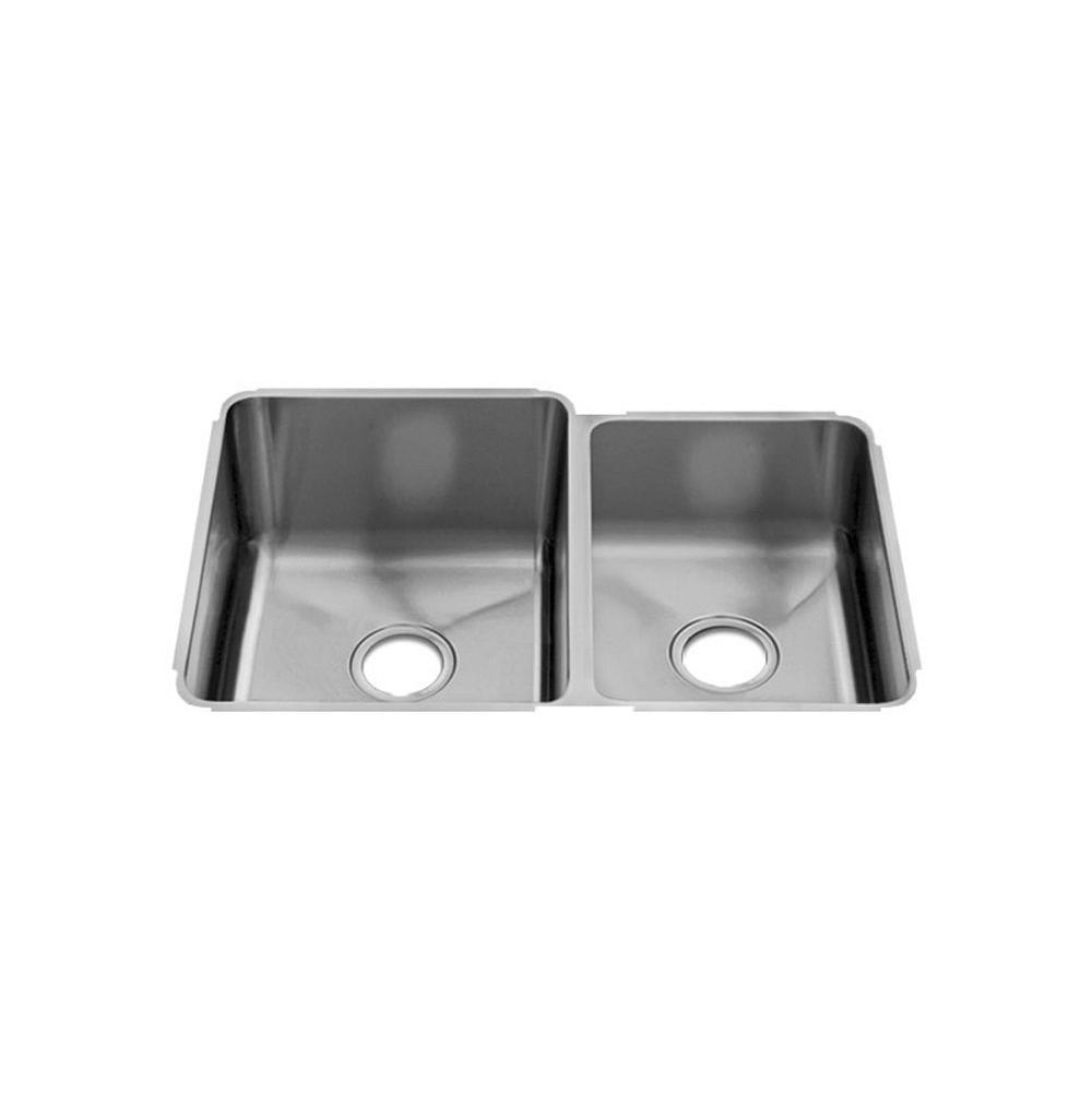 Home Refinements by Julien Classic Sink Undermount, Double L15X18X10 R12X16X8