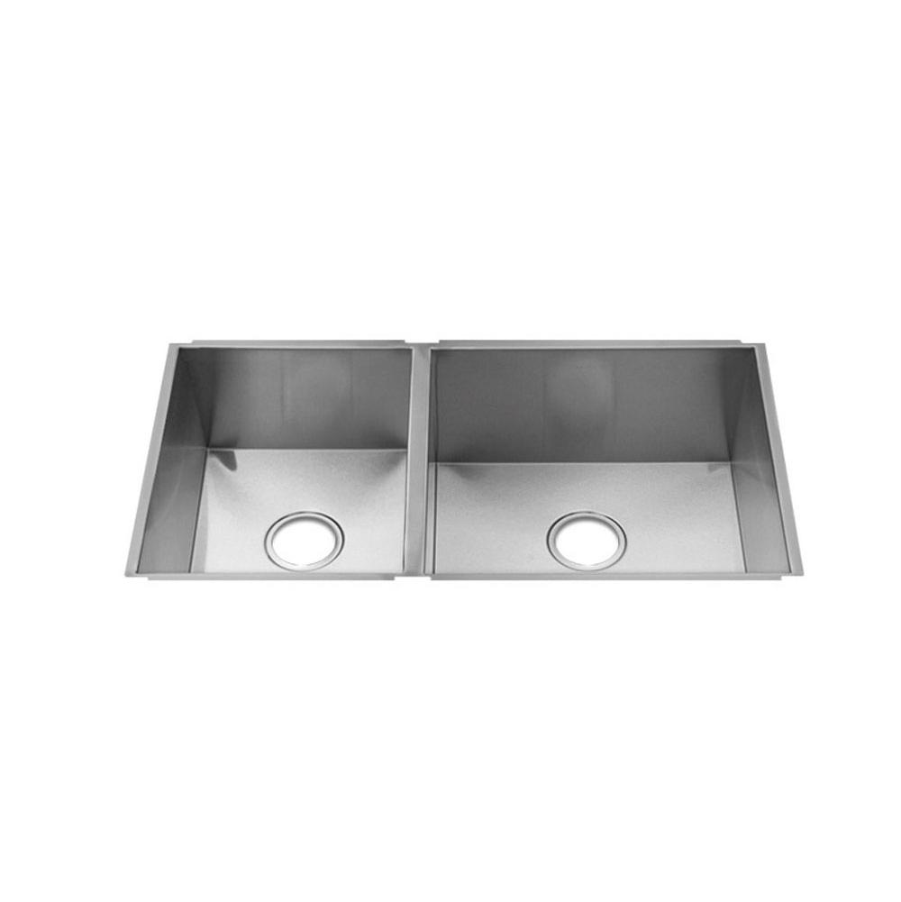 Home Refinements by Julien Urbanedge Sink Undermount, Double L12X16X8 R18X16X10