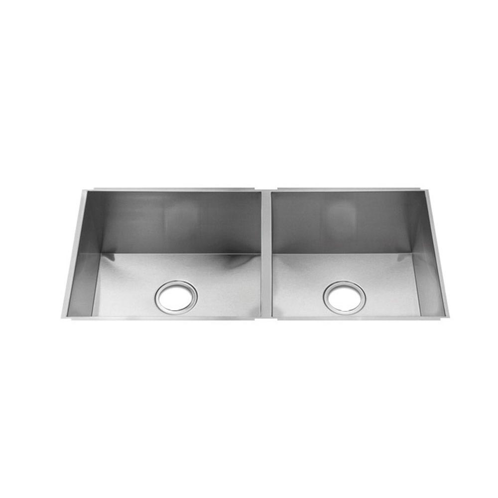 Home Refinements by Julien Urbanedge Sink Undermount, Double L18X16X10 R15X16X8