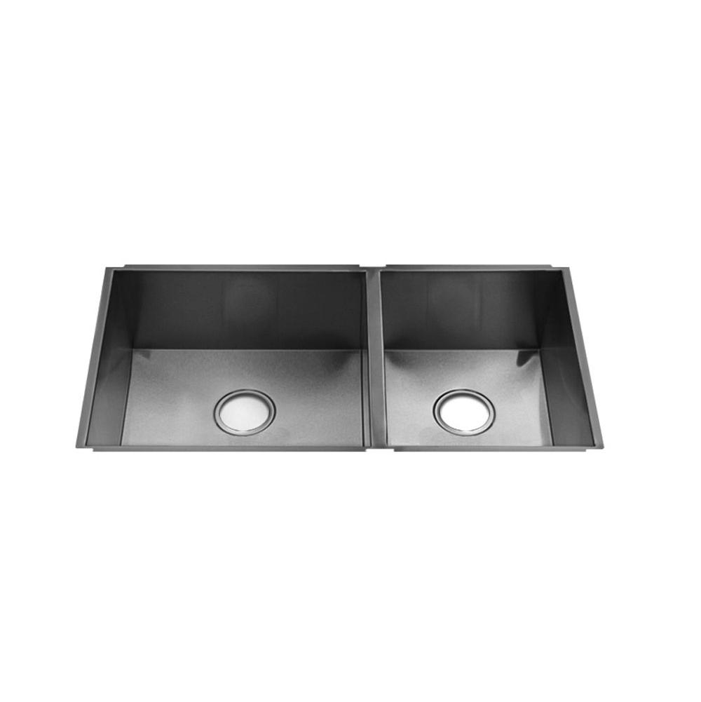 Home Refinements by Julien Urbanedge Sink Undermount, Double L18X16X8 R12X16X8