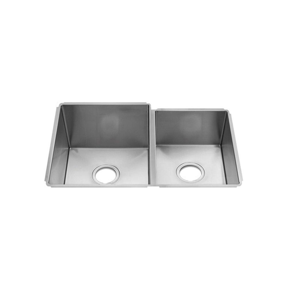 Home Refinements by Julien J7® Sink Undermount, Double L15X16X10 R12X16X8
