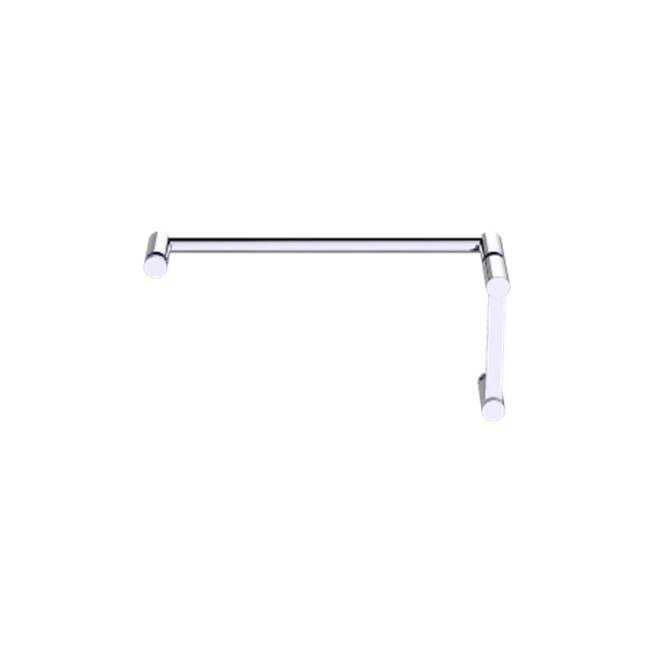 Kartners Porto - 8''x24'' - Offset Shower Door Handles - Brushed Bronze