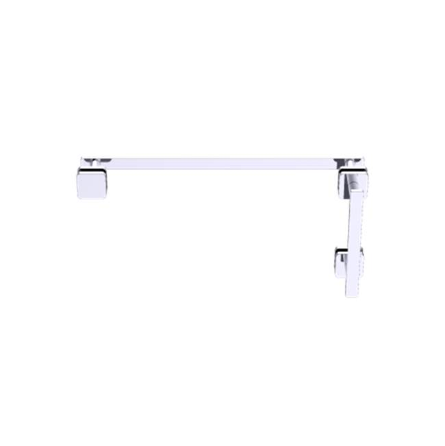 Kartners Milan - 8''x24'' Offset Shower Door Handles - Brushed Chrome