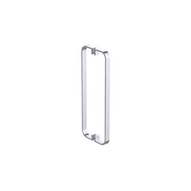 Kartners COLOGNE - 12'' Double Shower Door Handle - Glossy White