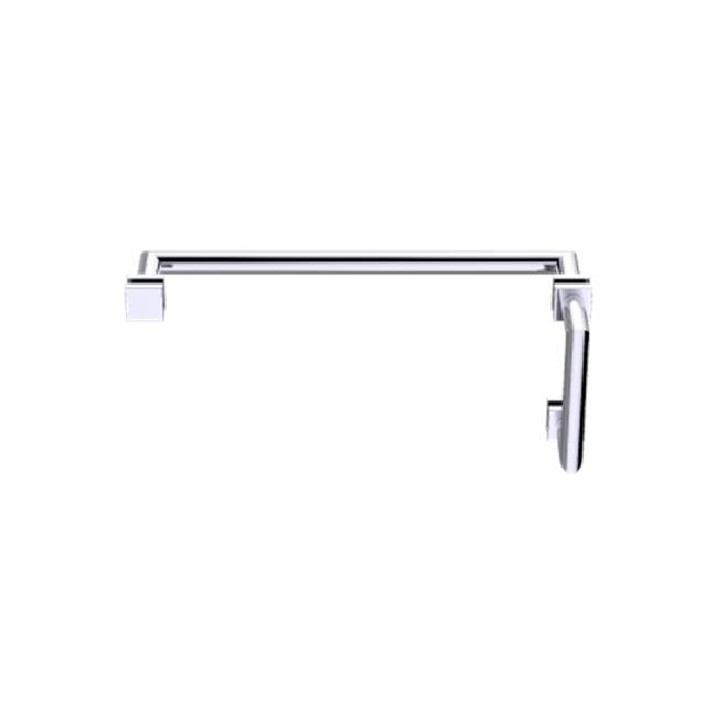 Kartners Madrid - 8''x24'' Offset Shower Door Handles - Black Nickel