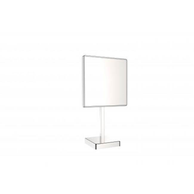 Kartners Free Standing Square Single Sided Mirror- Brushed Nickel