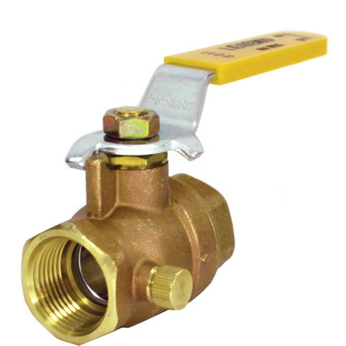 Legend Valve 1'' T-1102NL No Lead Forged Brass Full Port Ball Valve with Drain