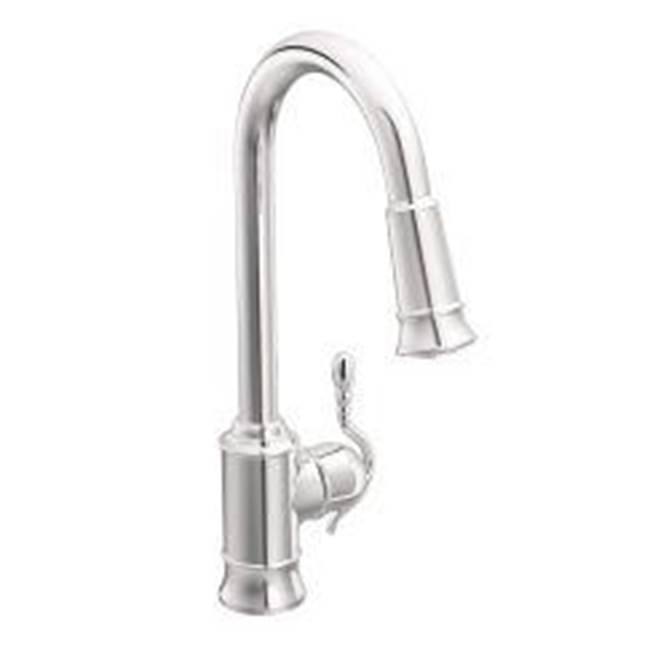 $478.50. 7615C · Moen; Chrome One Handle High Arc Pulldown Kitchen Faucet  ...