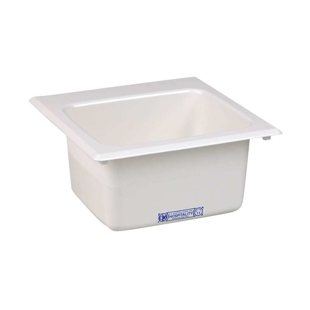 Mustee And Sons Bar Sink 15X15 White
