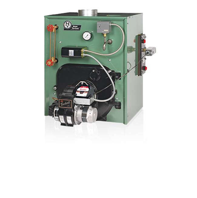 New Yorker Boiler PACKAGED CL140, 3 SECTION STEAM, REAR HEATER,PSE801 CARLIN, BNB