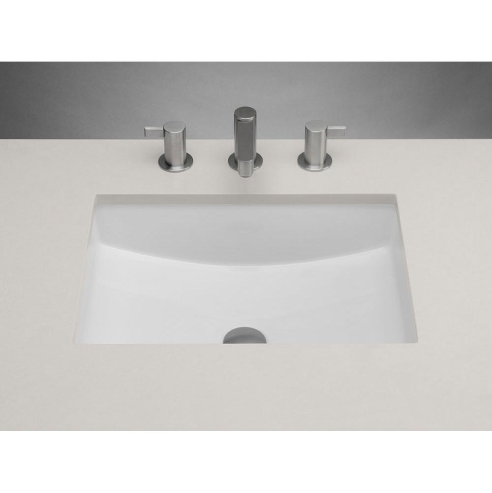 Ronbow Rectangle Ceramic Undermount Bathroom Sink In White