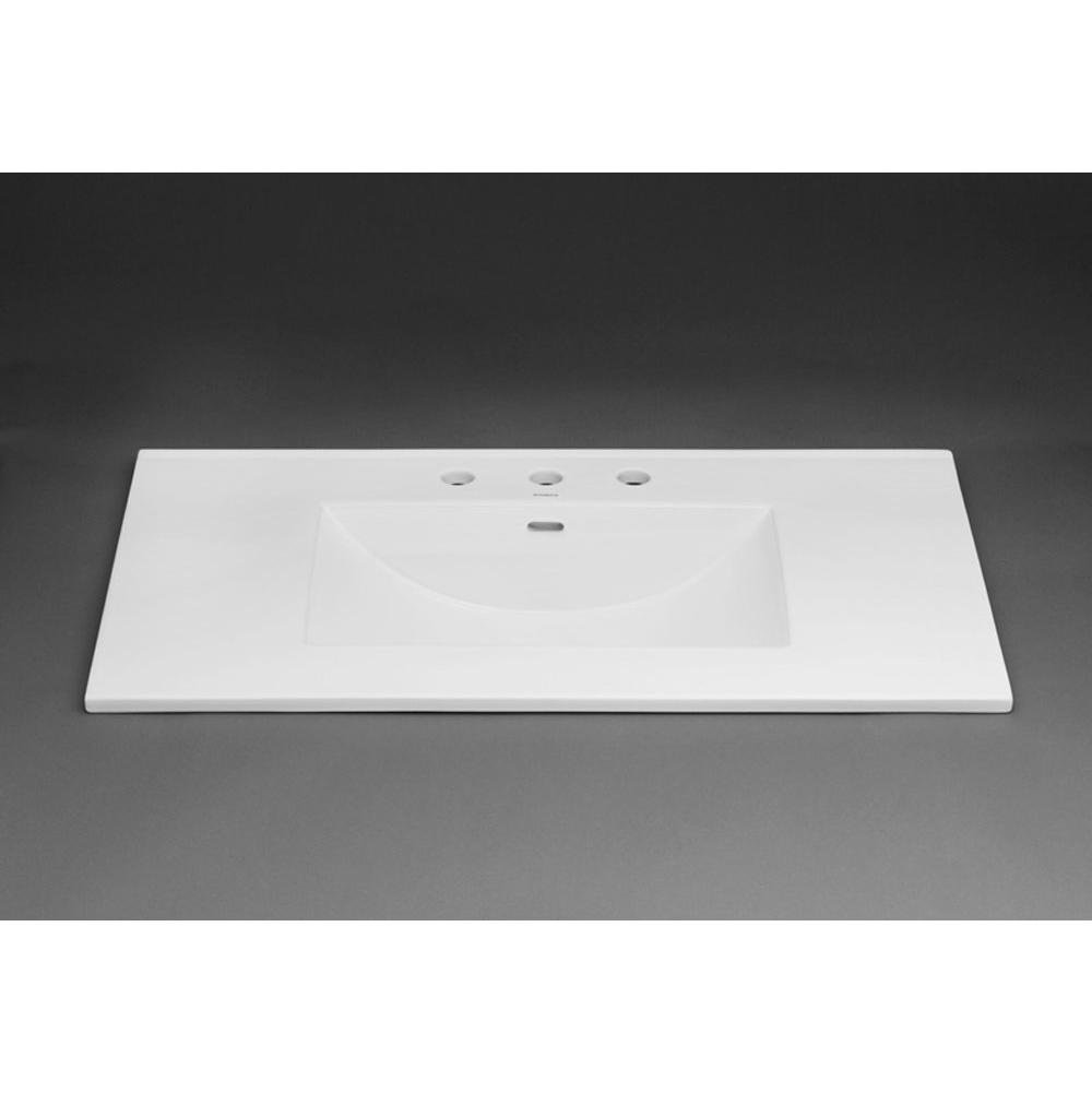 "Ronbow Karaâ""¢ 37\'\' Ceramic Sinktop with Single Faucet Hole in White ..."