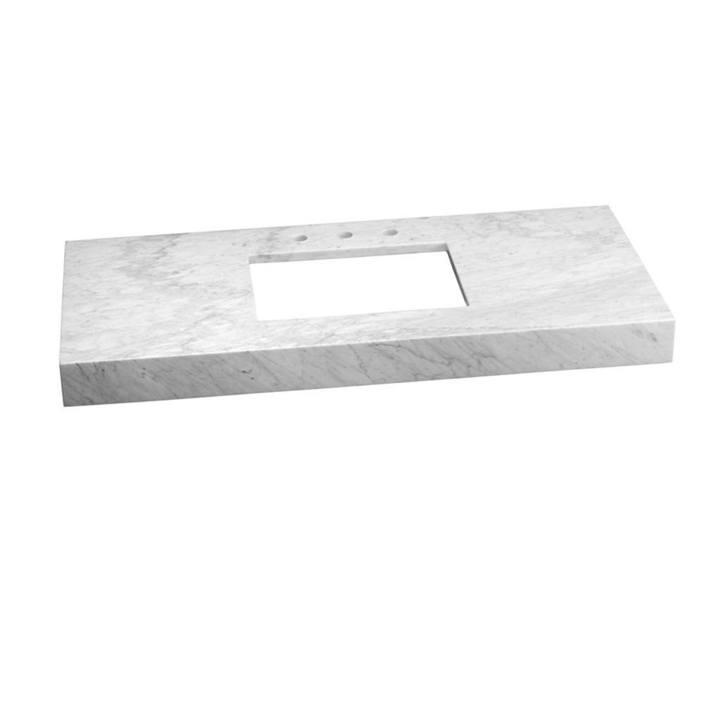 Bathroom Sinks Ronbow Wideealâ 48 X 22 Marble Vanity Top In Carrara View Detailed Images 1